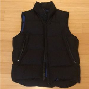 Men's Burberry black goose fill vest
